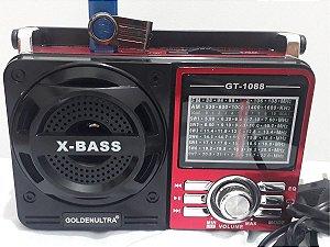 Rádio Am Fm Ws Portátil Recarregável Com Bluetooth Mp3 Usb Pen Drive Bivolt