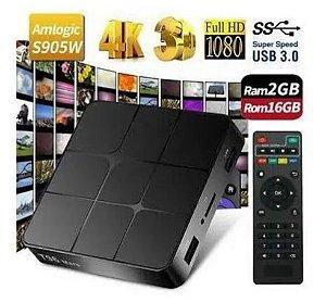 Tv Box Transforme Sua Tv Em Smart Android T96 Mars 4k