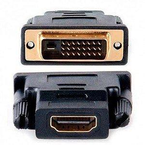 Adaptador DVI-I Macho (24+5) X HDMI Femea