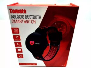 Relógio Smartwatch Sport Buetooth Mtr-09 Tomate - Preto
