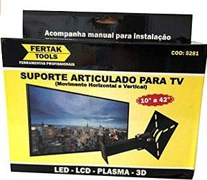 """Suporte TV Articulado 10"""" a 42"""" Fertak"""