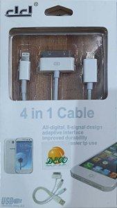 4 em 1 cabo de carregamento multi-conector USB