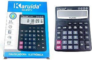 Calculadora De Mesa Balcão Escritório Display Com 12 Digitos