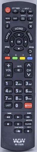 Controle Lcd Panasonic  W-7008 / SKY-7008