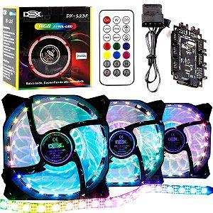 Fan RGB ANEL-LED Dex - DX-123F