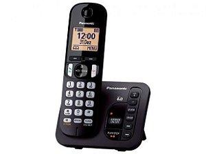 Telefone Sem Fio Panasonic KX-TGC220LBB - Identificador de Chamada Viva Voz Preto