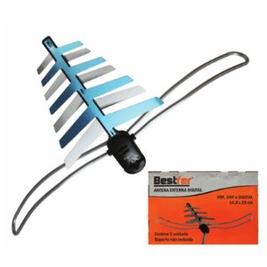 ANTENA DIGITAL EXTERNA 3 EM 1 (UHF-VHF-HDTV)