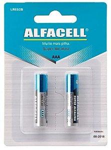 Pilhas Super Alcalinas Aaa Alfacel