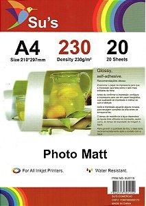 Papel Fotográfico Glossy Photo Matt A4 230gm