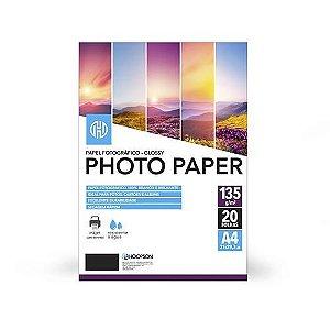 Papel Fotográfico 135g/m A4 - 20 Folhas - Photo Paper - Hoopson