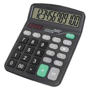 Calculadora 12 Dígitos De Mesa Comercial Estudo Kk-837b