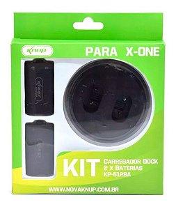 Carregador Dock 2 Baterias Xbox-one Knup Kp-5128A
