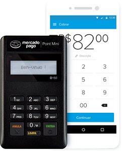 Point Mini Blue - Leitor De Cartão Do Mercado Pago Bluetooth