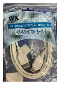 Cabo USB Femea para USB Femea 1.8 Metros - WX