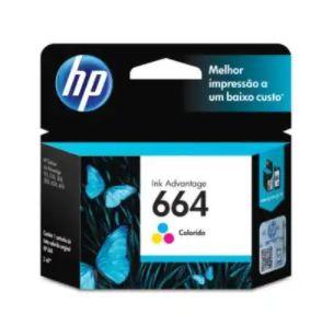 Cartucho de Tinta HP 664 - Ink Advantage Colorido