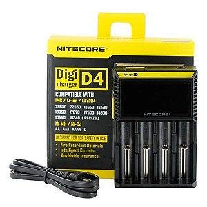 Carregador de Bateria/ Pilha D4 - Nitecore