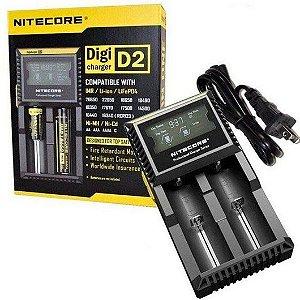 Carregador de Bateria/ Pilha D2 - Nitecore