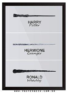 Varinhas - Hermione, Ron e Harry Potter