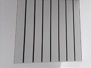 Painel Canaletado MDF  Branco - 61 x 61cm