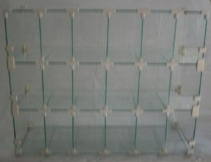 BALEIRO VIDRO MODULADO 20x45x60 cm - 18 MÓDULOS