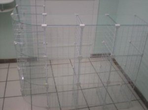 Balcão L  Aramado com Vidro
