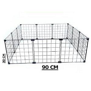 Cercado Para Porquinho Da Índia Ou Mini Coelho Tela Aramada 30 x 90 x 90cm