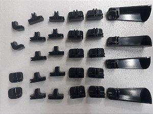 Kit conectivos preto para prateleira 06 módulos
