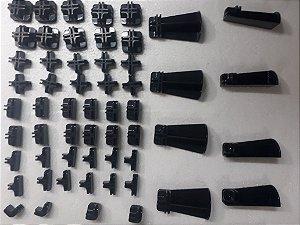 Kit conectivos preto para prateleira 18 módulos