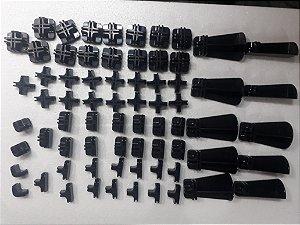 Kit conectivos preto para prateleira 24 módulos