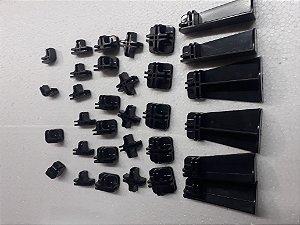Kit conectivos preto para prateleira 12 módulos