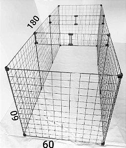 Cercado Para Cachorro Pequeno Porte Tela Aramada 60 x 60 x 180 sem Fundo com Reforço