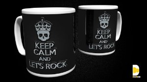 Caneca Keep Calm and Let's Rock