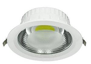 Luminária redonda LED COB embutir 30W Ø 22cm
