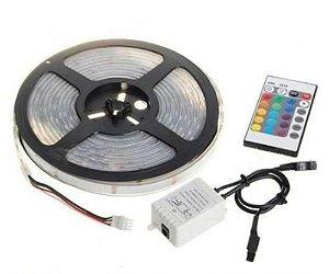 Fita LED 5050 IP65 RGB (Colorida) - Rolo com 5 metros
