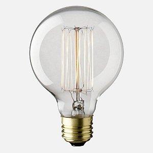 Lâmpada Filamento Carbono Thomas Edson 40W G95