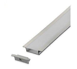 Perfil de alumínio para fita LED - 2 metros: Embutir
