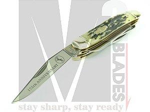 Canivete Clássico 4 lâminas Colt Muskrat 175th Anniversary (Chifre de Cervo) CT430