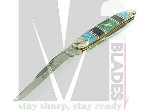 Canivete Clássico duas lâminas Colt Exotic Muskrat CT567