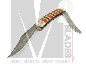 Canivete Clássico duas lâminas Colt Moose (Coral Series)