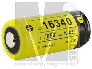 Bateria Klarus 16340 (RCR123A) 3,7V 650mA/h