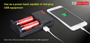 Carregador Inteligente e Powerbank Klarus C2
