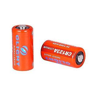 Bateria Olight CR123A 3.0 V (Duas Unidades)