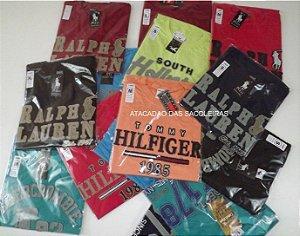 Camisetas Recorte Laser Gola Redonda - 5 Peças