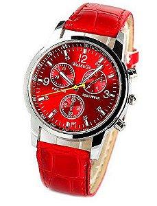 Relógio de quartzo pulseira de couro real para as mulheres - Frete Grátis