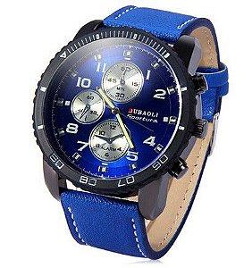 Relógio de Quartzo Masculino com visor Rotativo Sub-Discos Decorativos - Frete Grátis