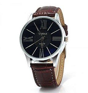Relógio de Luxo Yazole 315 quartzo com Pulseira de couro para homens - Frete Grátis