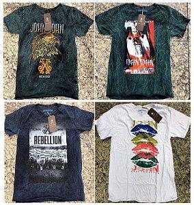 Camisetas Marmorizadas, Escovadas - 10 Peças