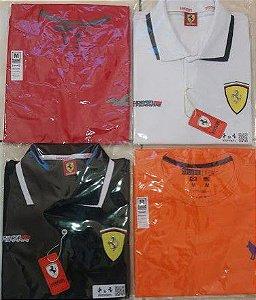 Oferta 2 Polo Ferrari e 2 Camisetas Deluxe - 4 Peças