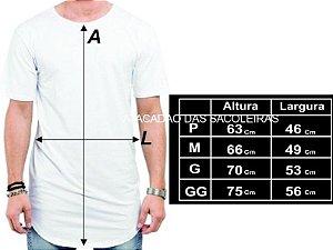 Camisetas long line Malha: Fio 30.1 penteada - 10 peças