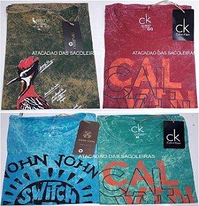 Camisetas em malha fio 30.1 - 100% algodão - Pré lavada - 20 Peças